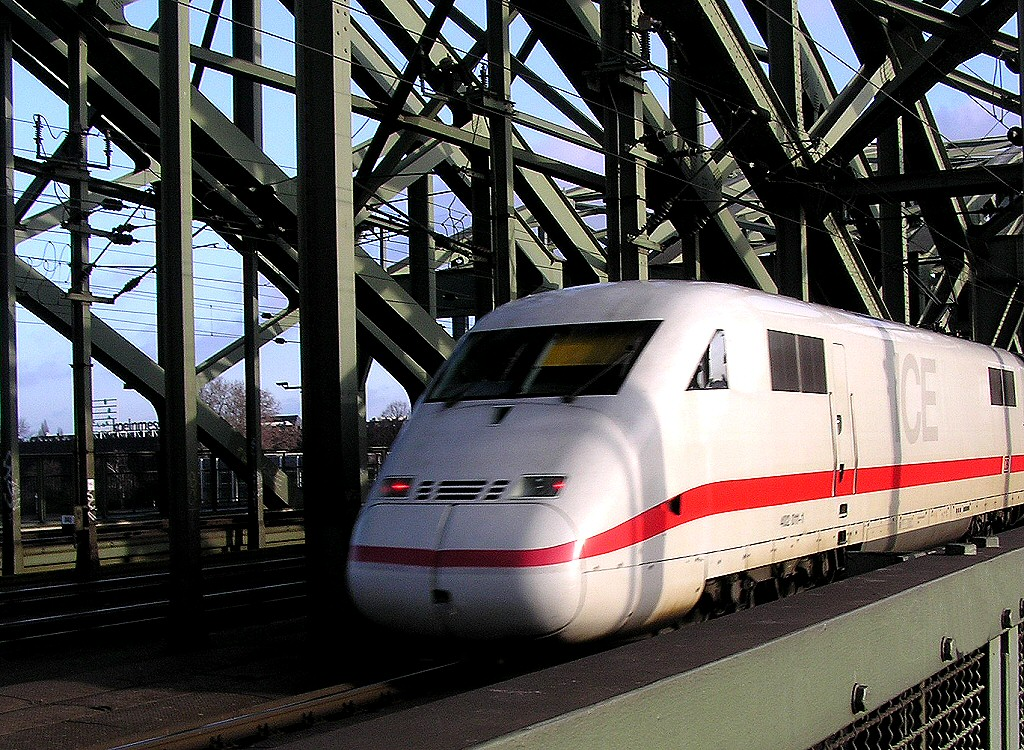 The ICE train Die Bahn, Deutsche Bahn AG the German Railway Intercity express
