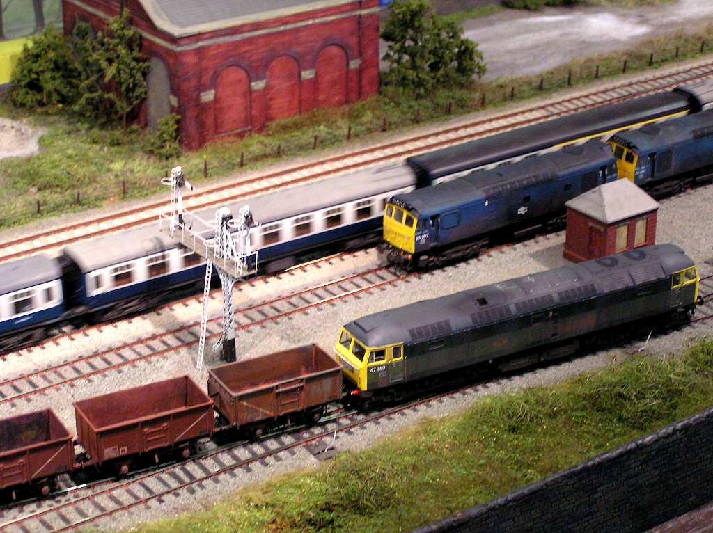model railroad display